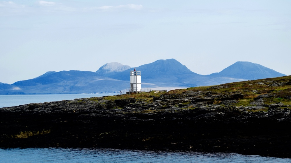 The Paps of Jura from Scalasaig, Colonsay