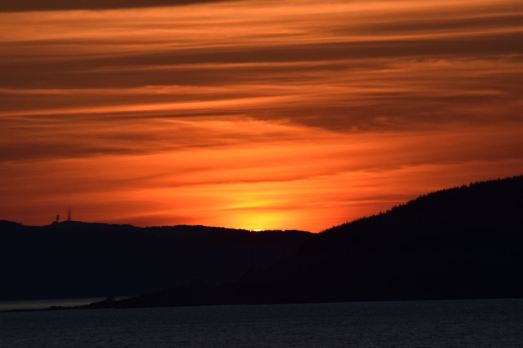 Sunset in the Sound of Mull