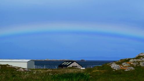 Rainbow over Gott Bay