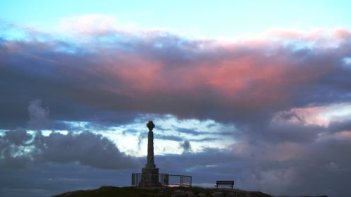 The monument Pier Road