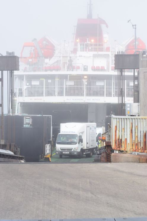 Vehicles disembarking