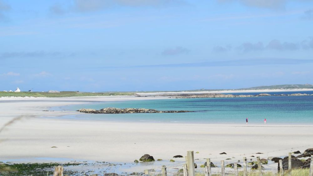 The view across Soroby and Crossapol beaches.