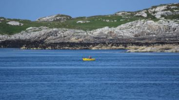 A wee rowing boat off Coll