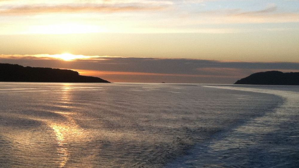 Sunset from the MV Clansman in the Sound of Mull