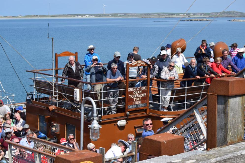 Eager Anticipation as the steamer berths