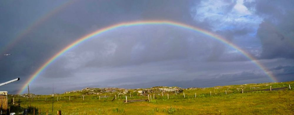 A rainbow encompassing Scarinish
