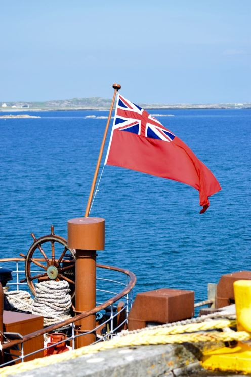 Stern Flag - a quiet end of the steamer