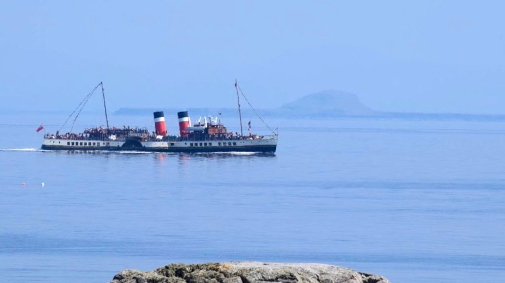 PS Waverley with the Dutchman's Cap in the background - from Milton