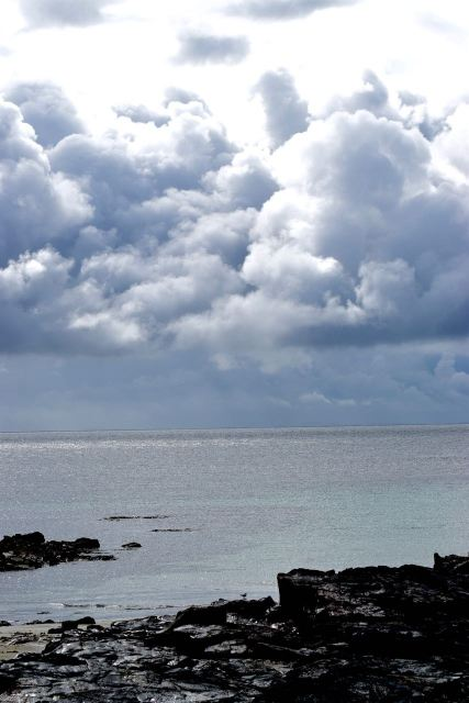 Sunshine and showers over the Passage of Tiree