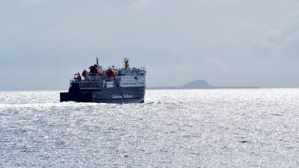 The MV Clansman cuts through the silvery surf
