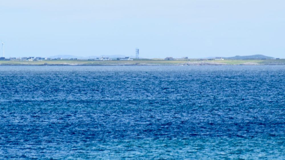 Looking towards Scarinish with the BT Tower clearly visible