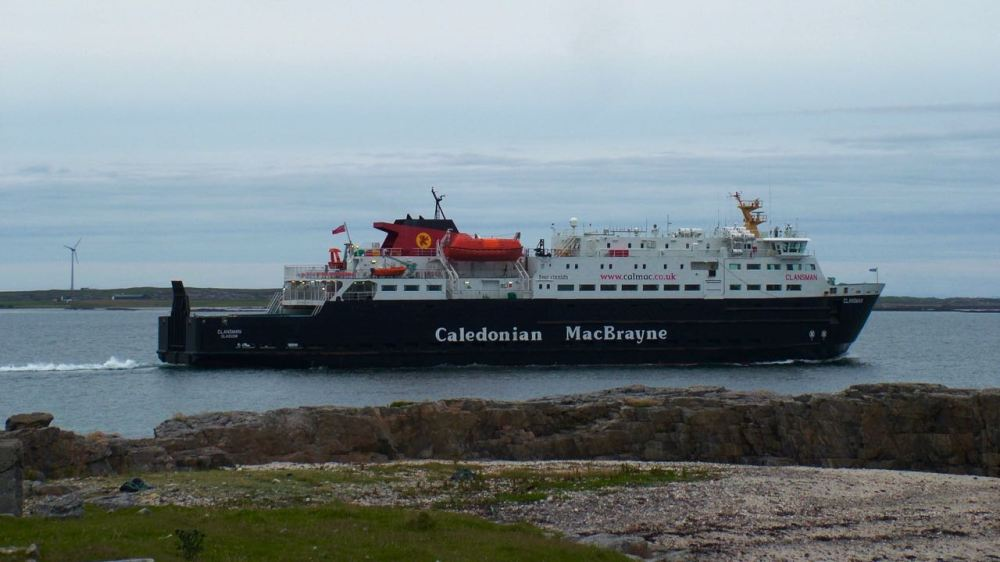 The MV Clansman heading for Oban and an early start in the morning.