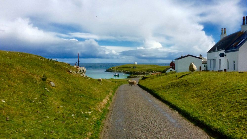 The vista on the approach to Scarinish Old Harbour