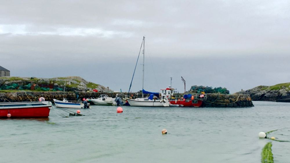 A busy Scarinish (old) harbour