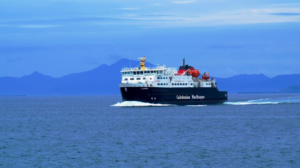 MV Clansman with Mull as a backdrop