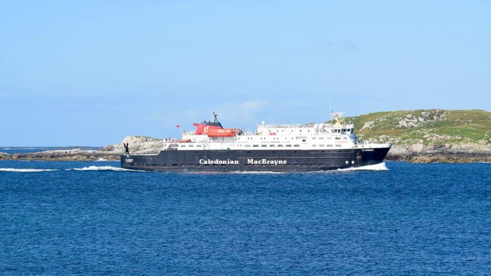 The MV Clansman in the Gunna Sound