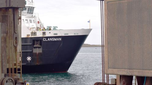MV Clansman damed by the linkspan