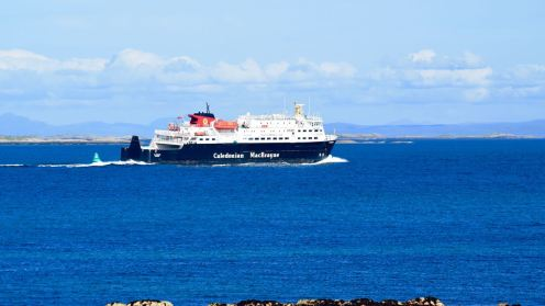 The MV Clanman in the Sound