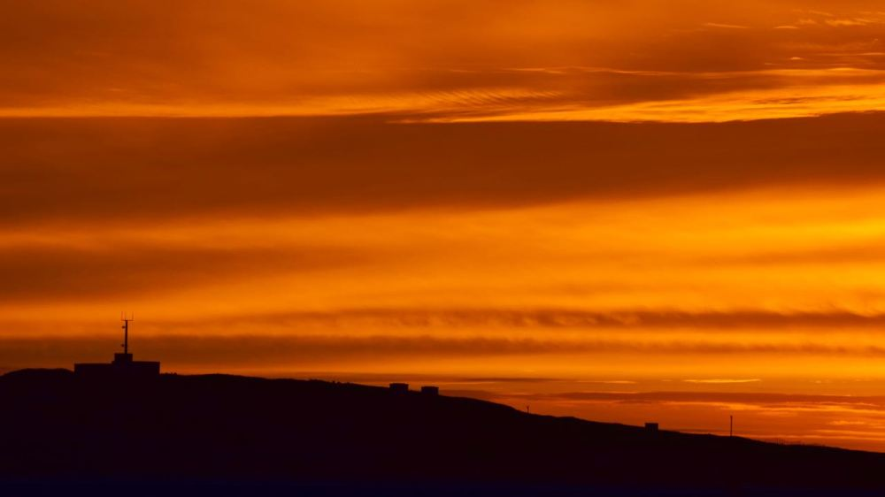 Saturday's sunset from Scarinish