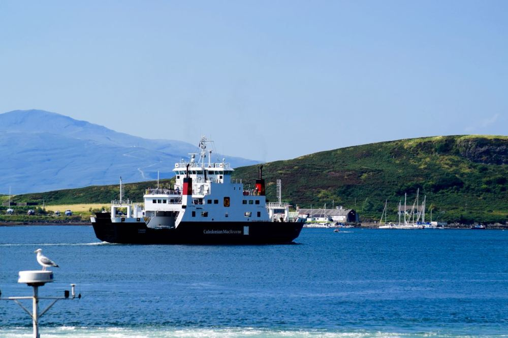 MV Coruisk departing for Craignure on the Isle of Mull
