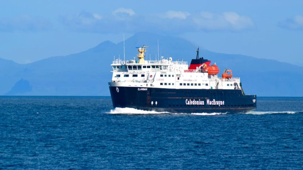 The MV Clansman in Gott Bay