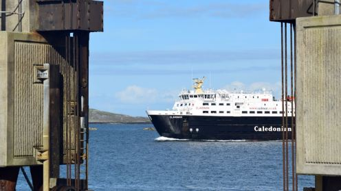The MV Clansman framed by the linkspan