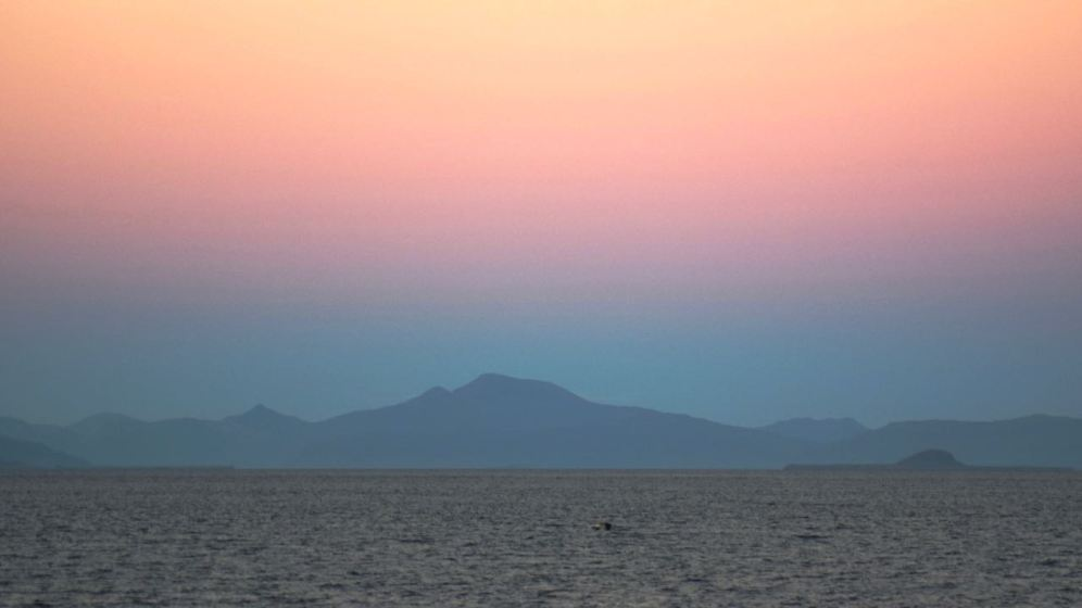 Ben More and a pink Eastern Sky