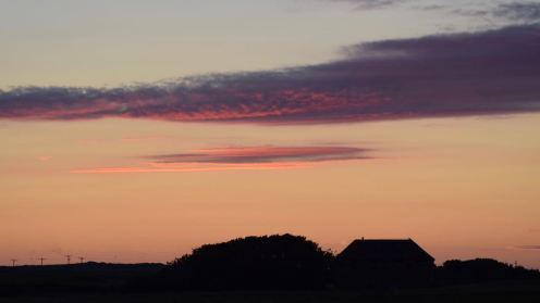 Colourful clouds over the Steadings