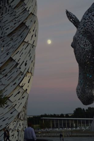 The Kelpies moonstruck