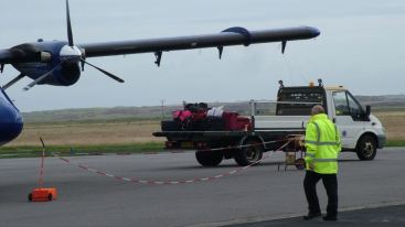 Ruth's Luggage being put on board