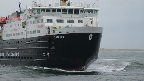 MV Clansman comes alongside the head of the pier