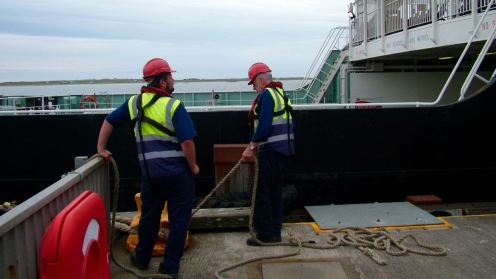 Standing by the stern ropes