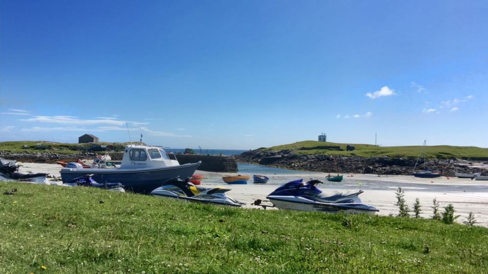 Thursday's Low Tide at Scarinish Old Harbour