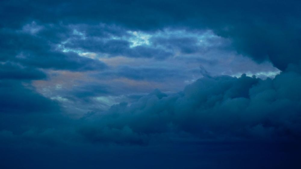 Dusk over the Isle of Tiree - the eastern sky