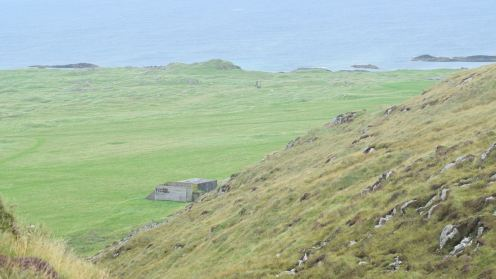 The site of a township buried in the sand