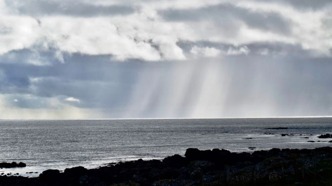Sunlight shafting on the Passage of Tiree