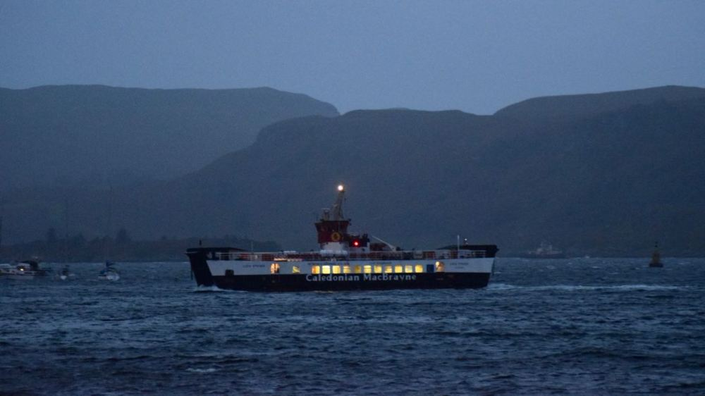 The MV Loch Striven inbound to Oban from Lismore