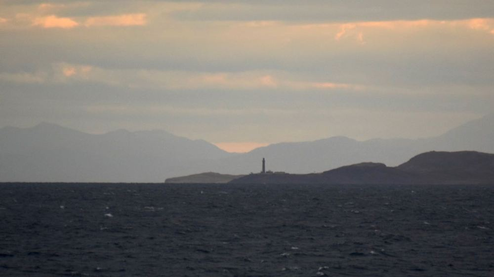 Ardnamurchan Lighthouse standing our clearly in the dawn light