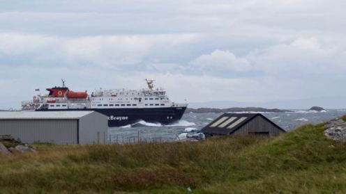 Mv Clansman off to Coll and Oban