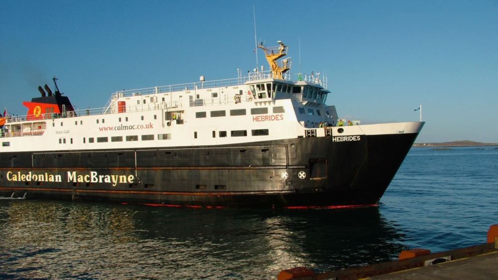 The MV Hebrides on a previous visit to Tiree
