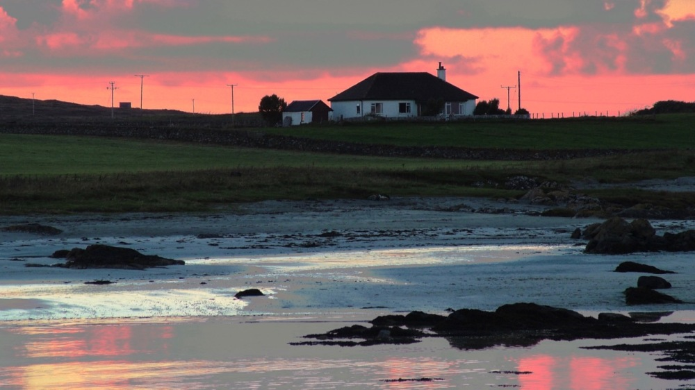 Tiree Manse at Sunset
