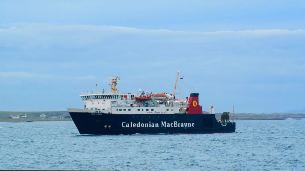 The MV Lord of the Isles approaching Tiree on Tuesday evening