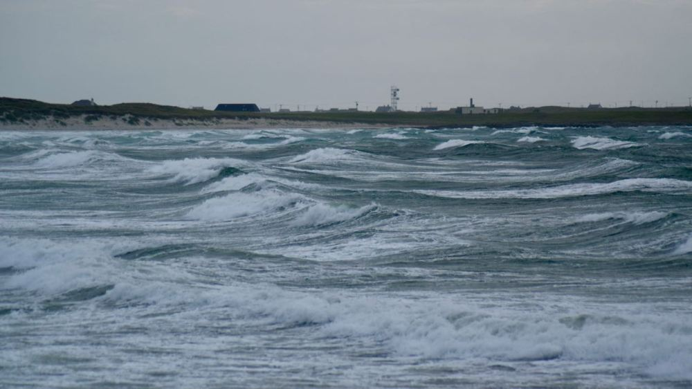 Storm tossed seas at Crossapol