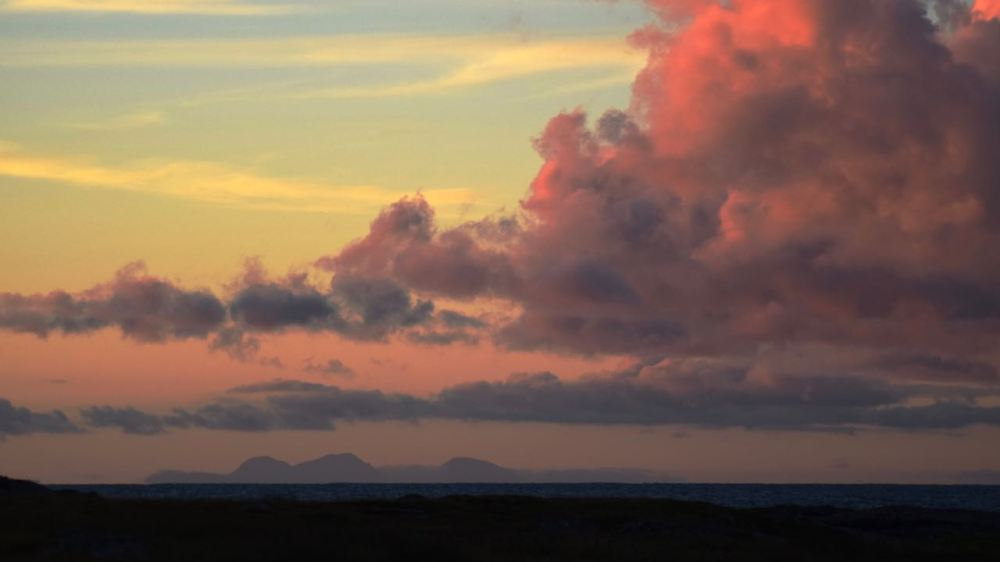 Pillar of Fire over the Paps of Jura