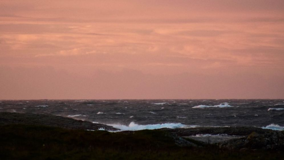 Stormy Seas at Dawn