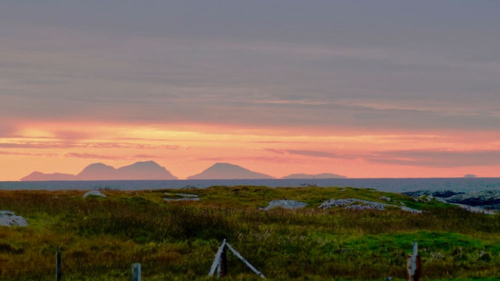 The Paps of Jura and Sunrise