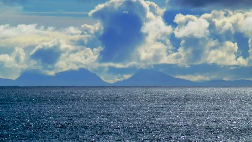 The Paps of Jura from the Lighthouse, Scarinish