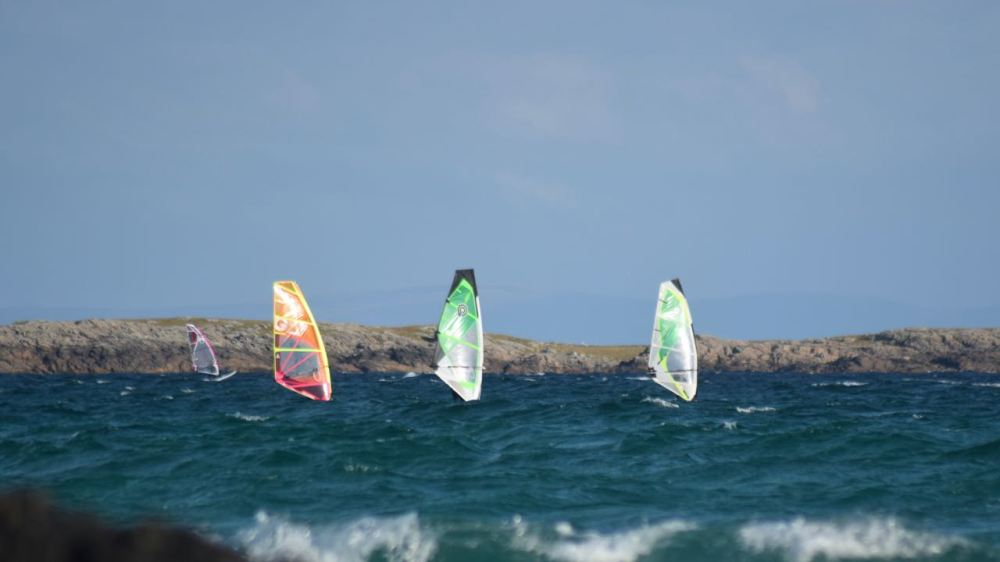 Sail boards at Crossapol