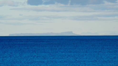 Looking across Balephetrish Bay to Eigg