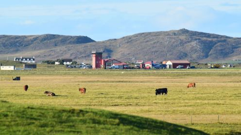 Tiree's airport from the Medical Practice